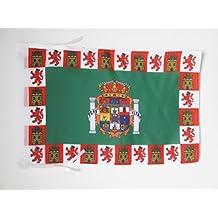 BANDERA de la PROVINCIA DE CÁDIZ 45x30cm - BANDERINA CÁDIZ ENANDALUCÍA 30 x 45 cm cordeles - AZ FLAG