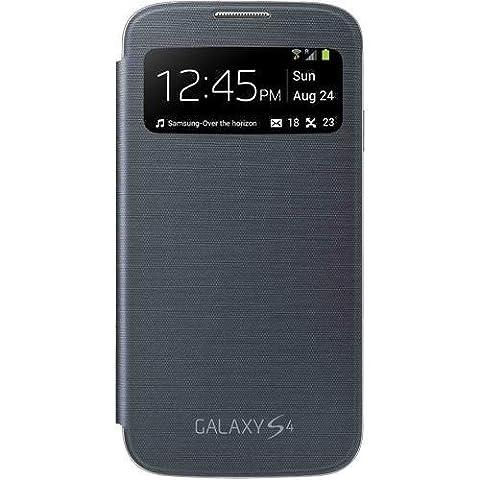 Gris foncé Étui Coque Samsung Galaxy S4 (GT-i9500 / i9505 LTE / i9502 Duos / Google Edition / S4 Value Edition GT-i9515 / SCH-i959) - Flip Housse Case Cover + 2 Films de protection d'écran