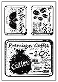 """♣ Buyby Stamping transparenter Stempel mit englischer Aufschrift """"Coffee..."""" für DIY, Verzierungen, handgefertigte Karten, Terminplanung, Fotoalbum (Coffee Label)"""