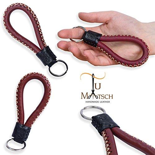tumatsch-leder-porte-cles-en-cuir-veritable-tresse-issu-du-commerce-equitable-brun-rouge-avec-coutur
