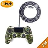 EXINOZ Cable Trenzado de Carga 2 m para Control de PS4 DualShock y Xbox One   Cargador para Mando de PS4 Dual Shock y Xbox One con Longitud Ideal   1 año de garantía de reemplazo