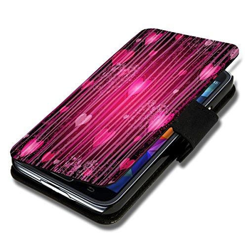 Book Style Flip Handy Tasche Case Schutz Hülle Schale Motiv Foto Etui für LG Bello 2 / Bello II - Flip X12 Design8