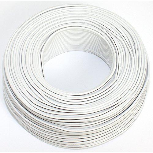 Lautsprecherkabel 2x0,50mm2 - 50m - weiss - CCA - Audiokabel - Boxenkabel