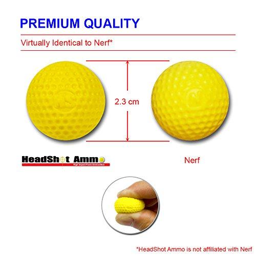 HeadShot-Ammo-Municin-compatible-con-Nerf-Rival-Paquete-de-bolas-de-espuma-de-repuesto-para-lanzadores-Nerf-110-bolas-Amarillo