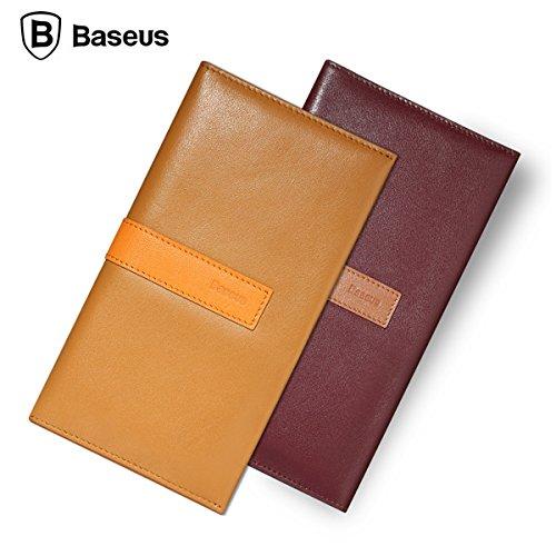 Pour iPhone 6S BASEUS Leather Wallet Pocket Card Case Filp Cover Housse de tŽlŽphone portable 4,7 pouces marron