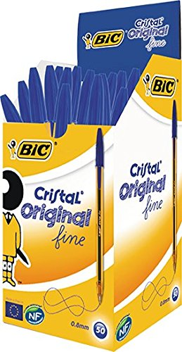 BIC 872730 - Pack de 50 bolígrafos, color azul