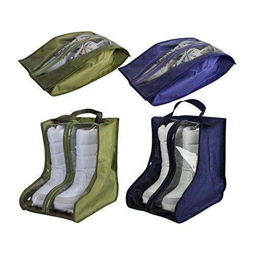 CHRISLZ Home Loaded Shoes Bag Anti-dust Waterproof Shoes Bag Simple Storage Bag with Zipper Closure (l blue)