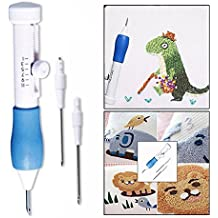 Cisixin 3 Piezas Magic bordado Pen Aguja, Accesorio de Costura para Puntadas, Appliques y