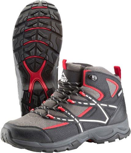 Trek-Schuh Nubash Mid Aqx M - schw/grau/rot SCHW/GRAU/ROT