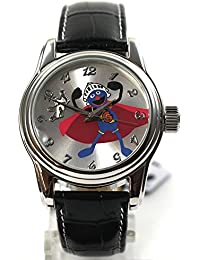 The Muppets Uhr Damenuhr Gonzo Automatikuhr Lederband Strass Cartoonuhr