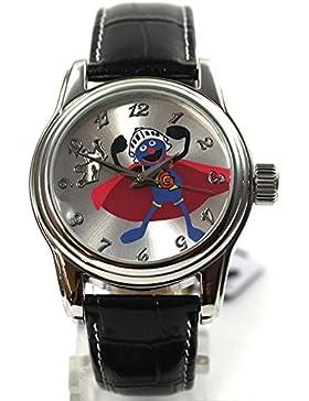 The Muppets Uhr Damenuhr Gonzo Automatikuhr Lederband Strass Cartoonuhr