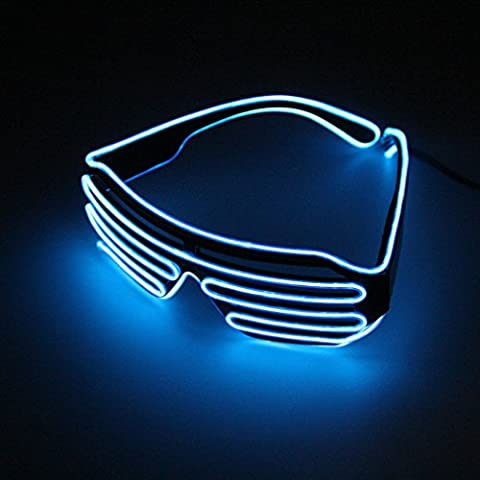 Blu Hot Wire Neon Luce LED fino a forma di