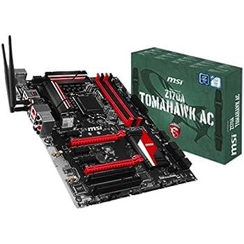 MSI Mainboard Z170A Tomahawk AC LGA1151 4X DDR4 Max 64GB 2X PCI 3X PCI-E 2X PCI-E16 x 1x DVI 1x HDMI 6X SATA3 USB3.1 USB2.0ATX