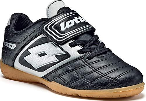 Lotto Sport STADIO POTEN.II 700 IDJRS, Scarpe da calcio bambino, Nero (Schwarz (BLACK/SILVER)), 29