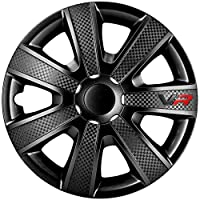 AutoStyle PP5155B Set wheel covers VR 15-inch black/carbon-look/logo