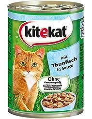 Kitekat Katzenfutter Thunfisch in Soße, 12 Dosen (12 x 400 g)
