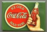 (2x3) Ice Cold Coca Cola, Vintage, Retro, Bullseye Locker Kühlschrank-Magnet