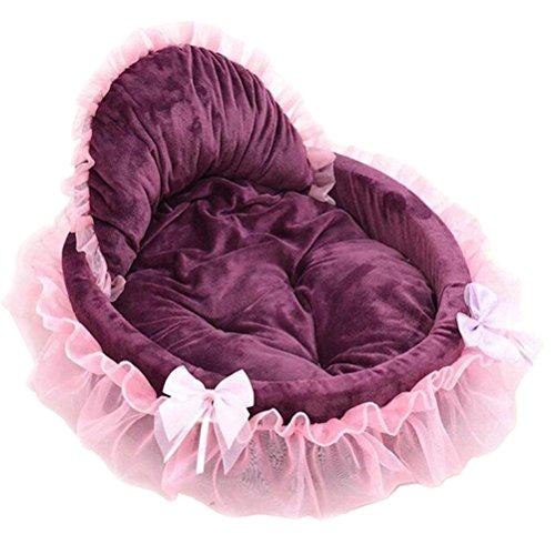 ür Hunde Prinzessin Katze niedlich Spitze Haus der Haustier Weich Warm Pet Abmessungen Bett klein (dunkelrot) ()