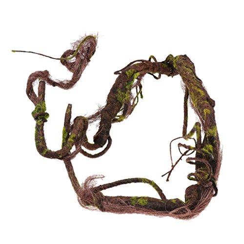 Homyl Künstliche Dschungel Reben Klettern Reben für Terrarium Reptilien - L (Terrarium Reben)