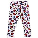 Moschino Baby Girl Leggings stampati in Jersey di Cotone Mod. MCP01FLBB0383211 3/6M