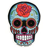 Sunny Buick - Rose Sugar Skull autocollant Sticker - 3.75'' x 6'' - Weather Resistant, Long Lasting for Any Surface