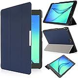 iHarbort® Samsung Galaxy Tab A 9.7 Case - Ultra Slim Lightweight Smart-shell Holder Stand Leather Case for Samsung Galaxy Tab A 9.7 Inch SM-T550, With Smart Auto Wake / Sleep functio (Galaxy Tab A 9.7, Dark Blue)