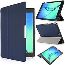 iHarbort® Samsung Galaxy Tab A 9.7 Funda - ultra delgado ligero Funda de piel de cuerpo entero para Samsung Galaxy Tab A 9.7 pulgada (SM-T550 SM-T555) (Galaxy Tab A 9.7, azul oscuro)