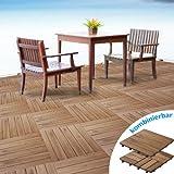 casa pura® Terrassenfliesen Set Arden | Holz, Akazien | 55 Stück - 5m²