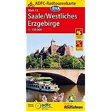 ADFC-Radtourenkarte 13 Saale /Westliches Erzgebirge 1:150.000, reiß- und wetterfest, GPS-Tracks Download (ADFC-Radtourenkarte 1:150000)