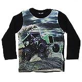 Me Too Camiseta de Manga Larga para niño bebé, Estampado de Tractores Multicolor, Talla: 18-24 Meses (86 cm), Color: Negro, 4654
