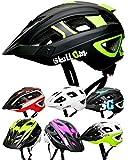 SkullCap® Casco Bici MTB - Uomo e Donna - con Visiero, Taglia L (59-61 cm), Colore: Verde e Nero