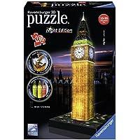 Ravensburger 12594 - Puzzle 3D, Big Ben illuminato, 216 pezzi