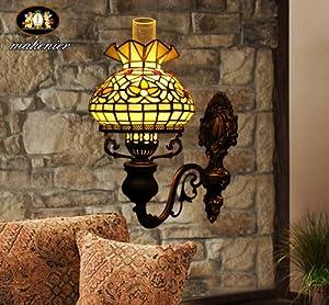 Parete lampade a cherosene Tiffany Vetrate Arte Vintage 1 lampadine da Lampade da parete