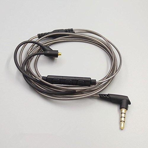 Meijunter Ersatz Kopfhörer Verbessern Kabel Schnur Headphones Remote Contorl Cable Cord Wire Line für Shure SE535 SE215 SE846 UE900 Headphones (Ue900-kabel)