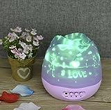 UChic 1 pz. LED luce notturna USB batteria alimentazione romantica Rose Knospen Forma Dreh Proiettore lampada per bambini bambini Baby sonno Night Light Sky Star