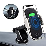 YDXW Wireless Charger Auto, Lüftung Kfz Induktive Ladestation,Auto Halterung, 2 in 1 Qi 10W Fast Charging Extra Stabil Lüftung Für iPhone XS/X/8 Galaxy S10/Note 10/S9 Alle Qi Geräte
