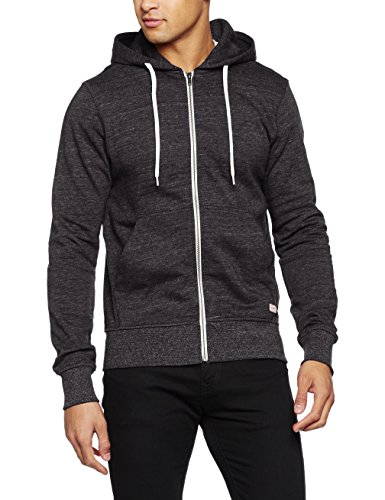 JACK & JONES Herren Jacke Jorstorm Sweat Zip Hood Basic Noos, Grau (Dark Grey Melange Fit:Reg), Large (L) (Sweater Zip)