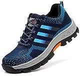 COOU Zapatos de Seguridad con Puntera de Seguridad s3 Comodos Ligeros Zapatos de Trabajo...