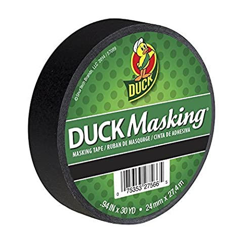 Duck Masking 240877 Black Color Masking Tape, .94-Inch by 30 Yards by Duck (30 Yd Masking Tape)