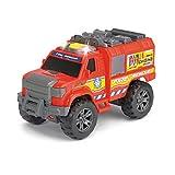Dickie Toys 203304010 - Action Series Fire Rescue, Feuerwehrauto, Offroadauto mit Motor, mit Licht- und Soundfunktion, 20cm