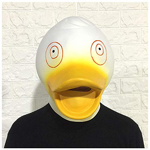 Maske YN Luxus Neuheit Kleine Weiße Ente Tiermaske Hood Maskerade Nette Ente Bar Dance Party Lustige Requisiten