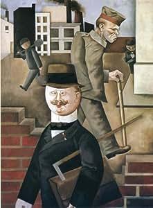 Peinture à l'huile - 15 x 20 inches / 38 x 51 CM - George Grosz - Le jour gris