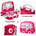 Role Play Jewelry Kit for Girls Toy Set Princess Suitcase Gift for Kids Children 3 Years Old