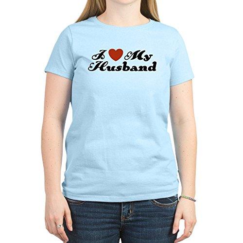 fa5088586bf36 CafePress I Love My Husband Women s Light T-Shirt - Womens Crew Neck Cotton  T
