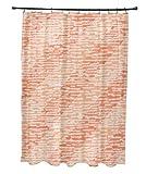 E von Design Marled Knit Streifen, geometrische Print Vorhang für die Dusche, gelb