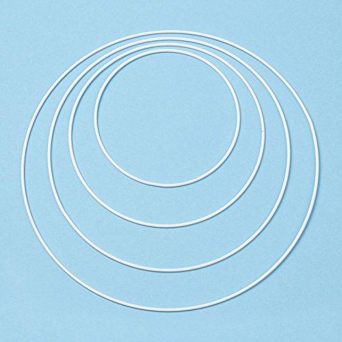 Hobbyfun Metall-Ring 30 cm, Weiss Beschichtet