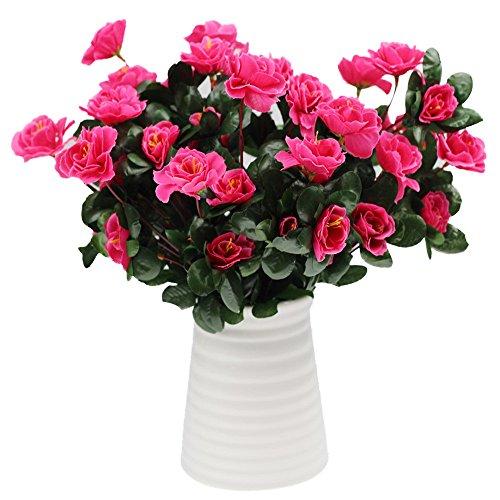 Andouy simulazione di bouquet artificiale di azalea cartamo decorazione di nozze a casa