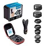 Kit lente telefono 7-in-1 portatile Obiettivo macro grandangolare CPL Filter Caleidoscopio 2X Zoom Lens Set per smartphone