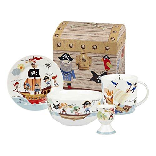 Little Rhymes Queens Coffret cadeau 4 pièces de vaisselle pour petit déjeuner Pirates des 7 mers