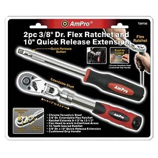 Ampro t297503/8-Antrieb Flex Ratsche und 25,4cm Quick Release Verlängerung, 2-teilig